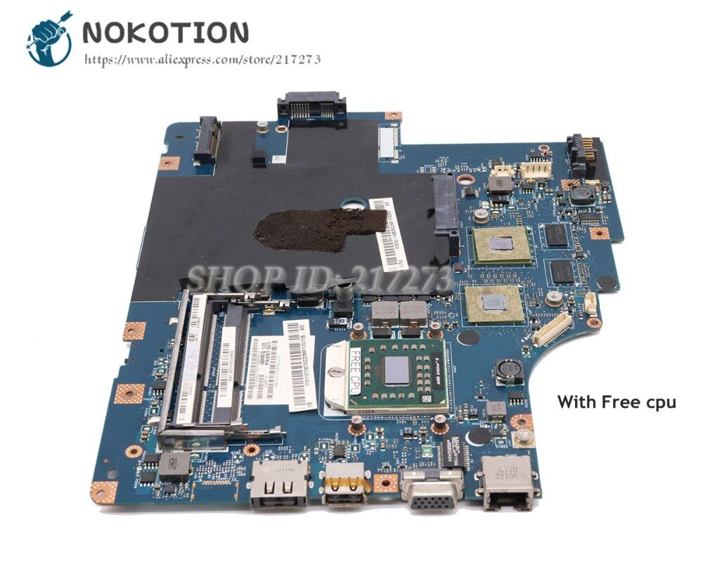 NOKOTION para Lenovo G565 Z565 placa base de computadora portátil NAWE6 LA-5754P hembra S1 DDR3 HD5340 GPU Tablero Principal