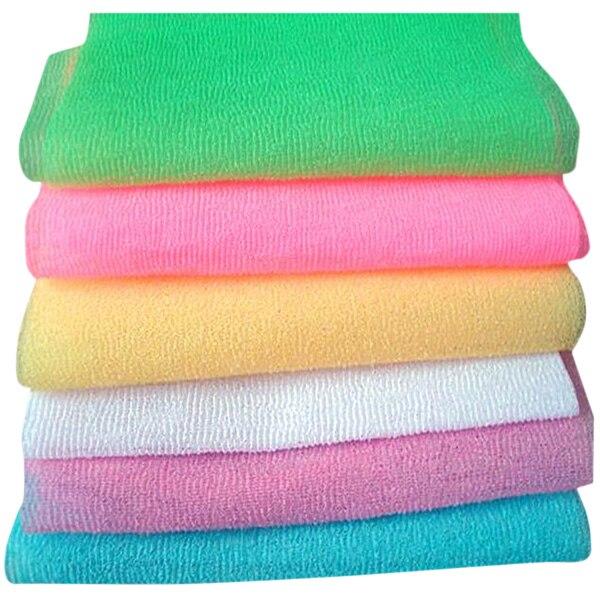 Maille de bain-douche en Nylon   3 pièces, bain-douche corps, nettoyage nettoyage exfoliant bouffantes serviette de gommage, MYDING de couleur aléatoire