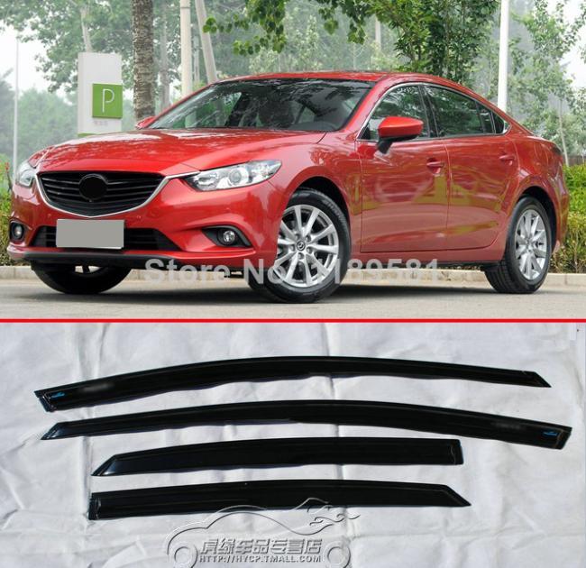 Для Mazda 6 M6 Atenza 2014 2015 2016 Mugen Стиль Окна козырек от дождя Защита от солнца Vent Новинка