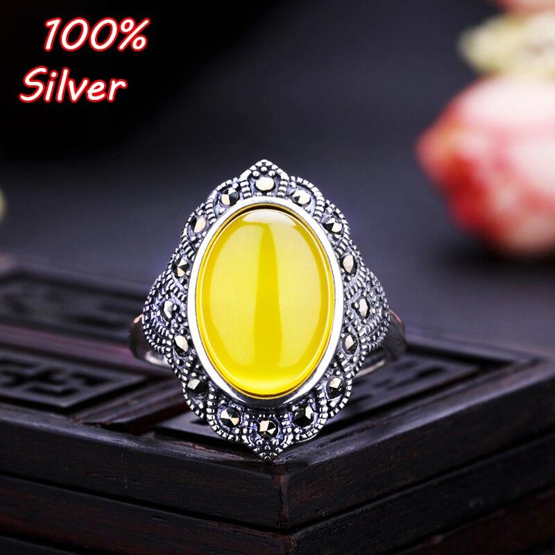 100% 925 prata esterlina cor jóias oavl ajustável anel em branco para a mulher interior 10*15mm diy encaixes base bandeja placa antiga