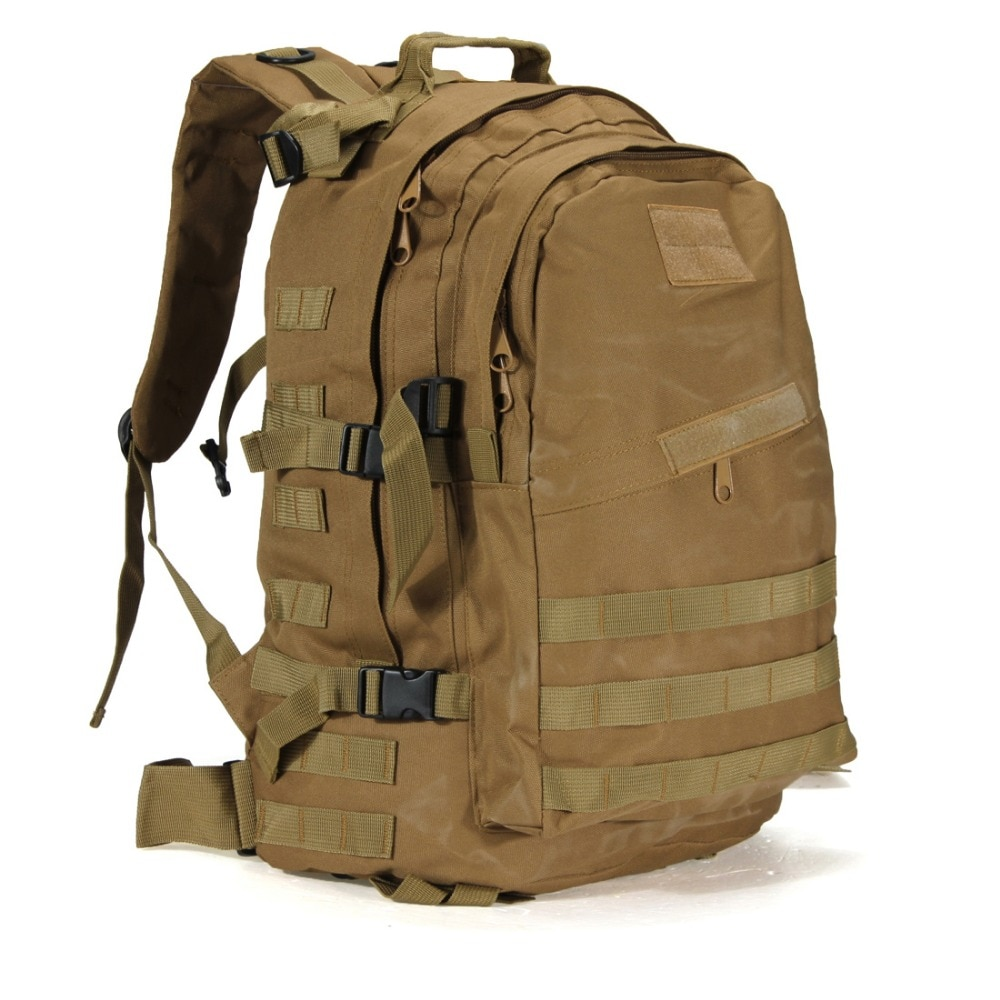 Mochila de asalto táctica militar impermeable de 40L para exteriores, mochila Molle del ejército para exterior, senderismo, Camping y caza