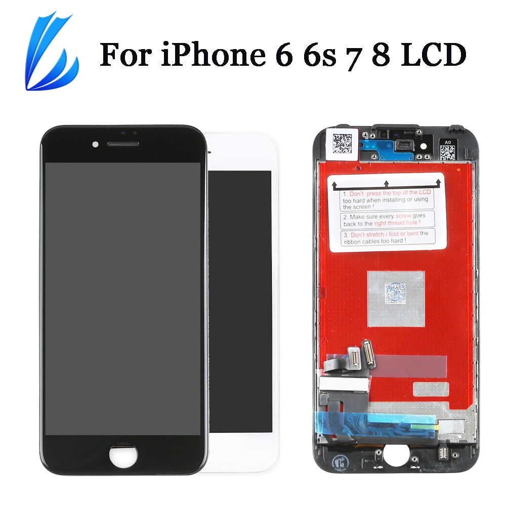 Display para o iphone 7 6s 6 8 tela lcd substituição display assembléia completa 4.7 for for para iphone6 6s 7 8 lcd toque digitador pantalla