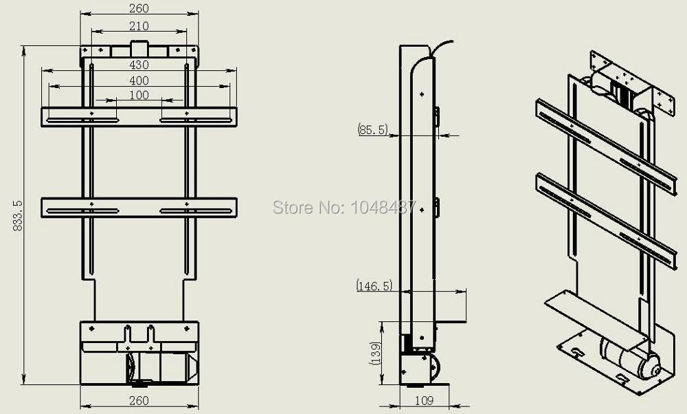 Actuador lineal reclinable de China 12 V/24 V/36VDC para TV cama elevadora Oficina