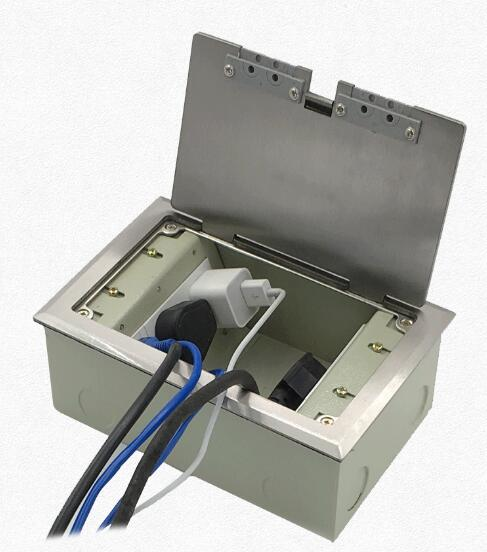 Plugue lado aberto para inserção de aço inoxidável escondido com o orifício de saída de cinco buracos além de rede de chão chão tomada plug