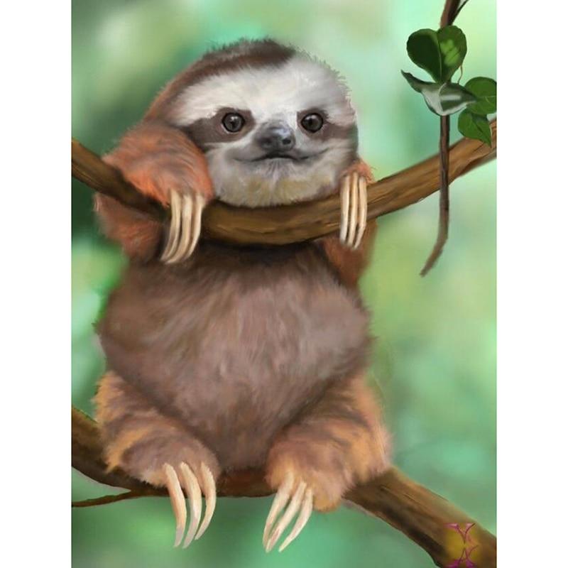 "Voll Bohrer Quadratmeter Diamant 5D DIY Diamant Malerei ""Junges Sloth Baby"" Diamant Stickerei Kreuz Stich Mosaik Malerei KBL"