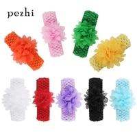 9pcs new european and american knitted chiffon headband childrens hair accessories headdress baby baby head hair band