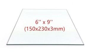 6'' x 9'' (150mm x 230mm) Borosilicate Glass Plate / Bed Flat for Flashforge Creator Makerbot Replicator 3D Printer parts