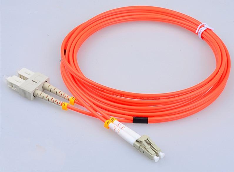 5 Meter LC-SC Fiber Optic Cable MultiMode Duplex Patch Cord OM2 50/125 5M