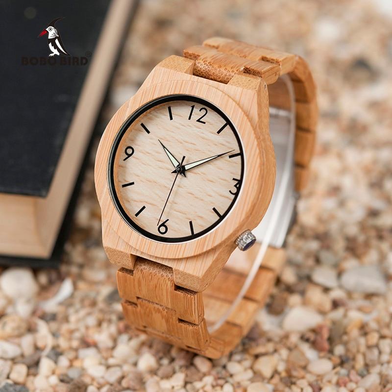 Relogio masculino بوبو الطيور الخشب ووتش الرجال أعلى العلامة التجارية الفاخرة خشبية الساعات الرجال العظماء هدية انخفاض الشحن W-D27