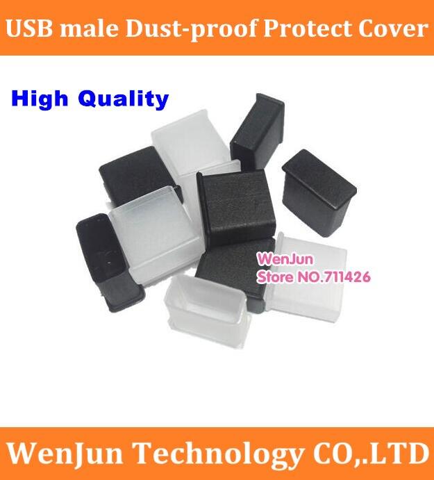 Alta calidad Universal DIY USB macho polvo enchufe cubierta USB 2,0 A tipo macho montaje adaptador enchufe