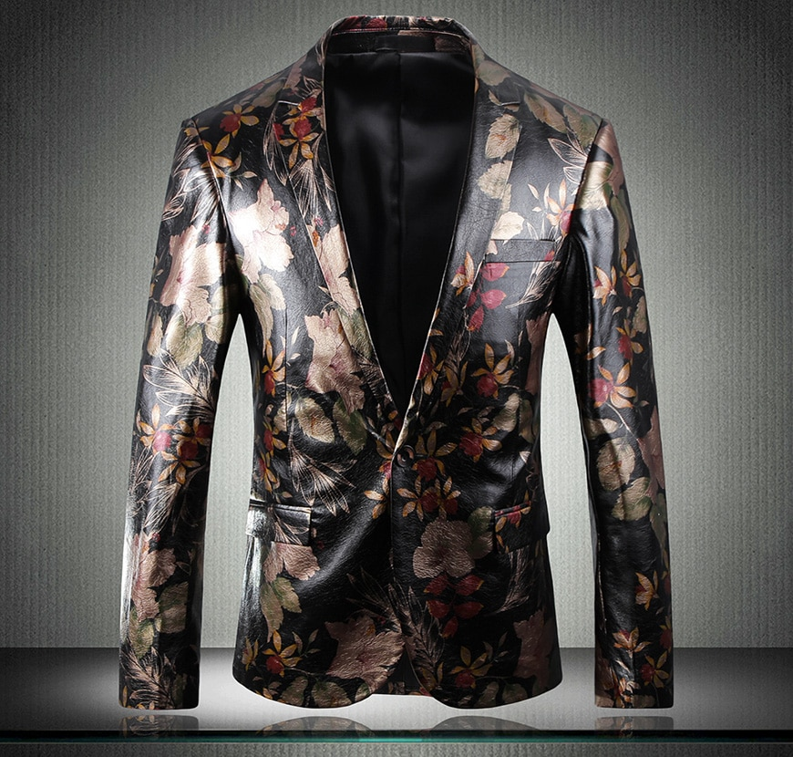 2019 MenS New Business Slim Classic High-End Stage Suit Jacket Low-Key Luxury Single West M-5XL