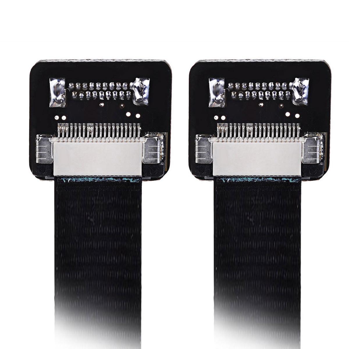 CYFPV cinta FPC Cable plano 0,5mm paso 20Pin para HDMI HDTV FPV multicóptero fotografía aérea 50cm 20cm 10cm negro