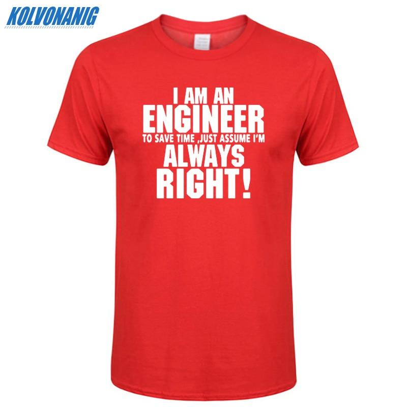 VERTRAUEN MICH ICH BIN INGENIEUR IMMER RECHT Brief Mode Druck männer T-shirt Casual Männer Baumwolle Kurzarm oansatz Lustige T-Shirt