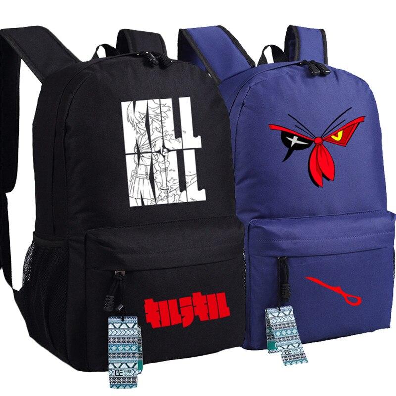 حار بيع الأزياء kill la kill للجنسين مراهق حقيبة مدرسية كتاب محمول سفر شولدرز حقيبة الظهر mochila
