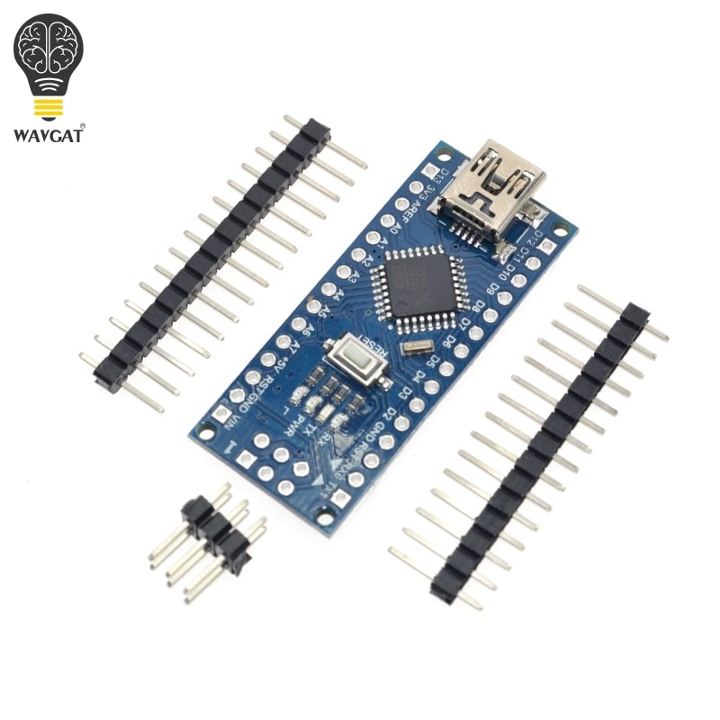 1PCS Promotion Funduino Nano 3.0 Atmega328 Controller Compatible Board for Arduino Module PCB Development Board without USB