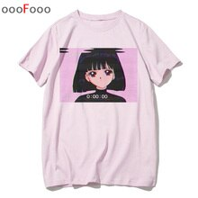 vaporwave T Shirt Fashion Sad Girl Retro Japanese Anime Men tshirt aesthetic Tops t-shirt Tee Shirt Harajuk male/women