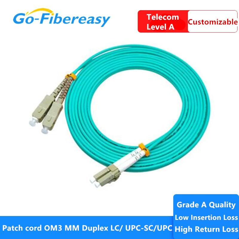 Cable de parche ftth de fibra óptica LC-SC, 10G, OM3, multimodo, parche...