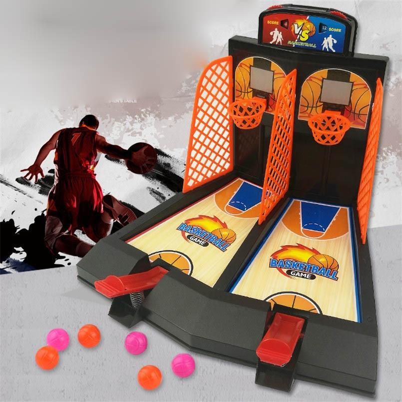 Mini Desktop Finger Basketball Shoot Interactive Battle Toys Family Fun Table Games Machine Anti-stress Hoops Toy For Boys Kids