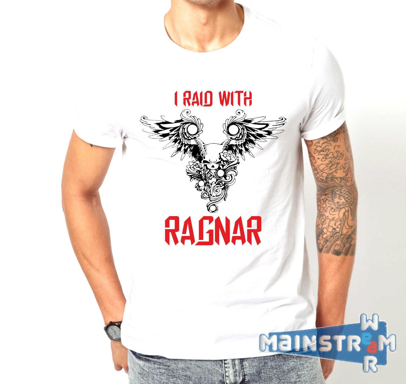 Camiseta MAGLIETTA vikingos VICHINGHI RAGNAR LOTHBROK Valhala SHIELDMAIDEN NORTH 100% Camiseta de algodón, camisetas al por mayor