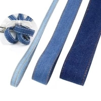 10 meters denim belt ribbon handmade bow hairpin material christmas party decoration gift packaging diy apparel sewing