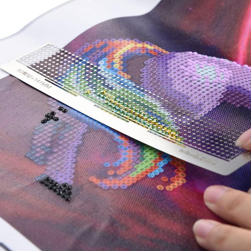 Edelstahl Diamant Malerei Zubehör Lineal DIY Nähen Stoff Patchwork Lineal Handwerk Diamant Stickerei Malerei Werkzeuge