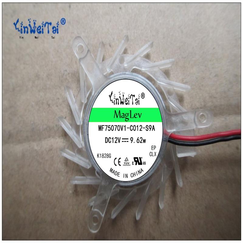 2 piezas de ventilador de tarjeta para TT 5010H12F ND2 MGA5012XR-O10 PLB05010S12H 12v ASUS pequeño ventilador de tono equilejano 39mm de diámetro 43mm