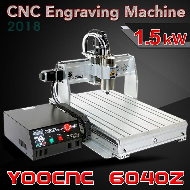 Mini enrutador CNC 6040 1.5KW Puerto USB Mach3 Auto fresadora con interruptor de límite