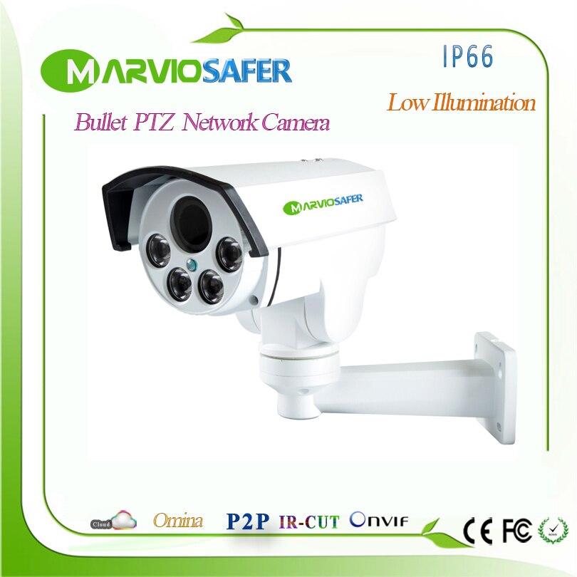H.265 1080P 4MP H.265 FULL HD Bullet POE IP67 impermeable PTZ cámara de red IP de 2,8-12mm 4X motorizada Auto-focol lente Onvif... HIk