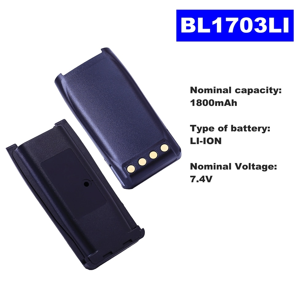 7.4V 1800mAh LI-ION Radio Battery BL1703LI For HYT Walkie Talkie TC700/780/780M/710 Two Way Radio
