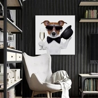 haochu cool dog animal canvas painting makeup hip hop style picture bar home decor wall art print men bedroom corridor supplies