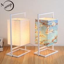 Vintage chinois style lampe de table art déco pays lampe de bureau LED E27 avec 2 styles pour étude chambre salon librairie café