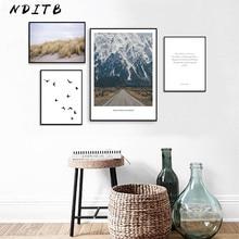 NDITB décoration scandinave montagne toile mur Art affiche Style nordique paysage impression peinture Nature décoratif photos