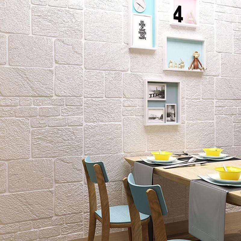 Самоклеящиеся обои 3d, твердая стена, кирпичная стена для детской комнаты, украшение для спальни, 70*70 см