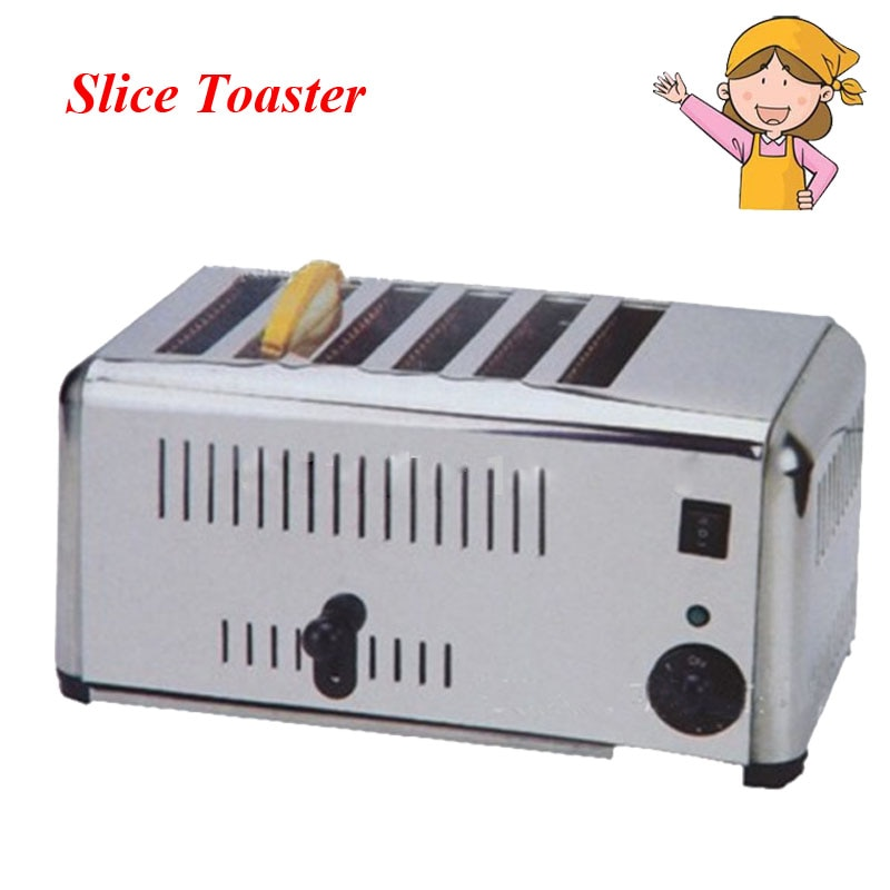 المنزلية التلقائي الفولاذ المقاوم للصدأ من محمصة صانع خبز آلة للمنزل الإفطار الأجهزة EST-6