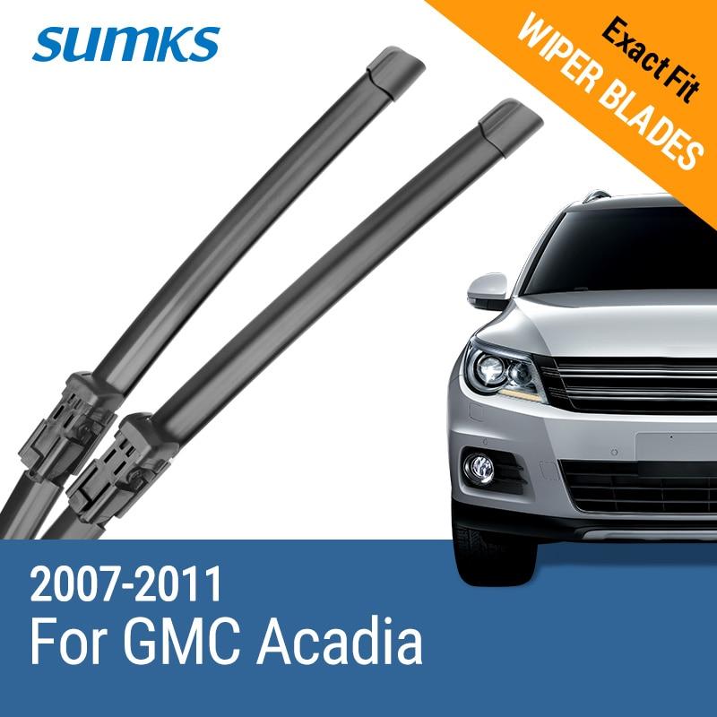 """SUMKS silecek lastikleri için GMC Acadia 24 """"& 21"""" Fit Push Button kol 2007 2008 2009 2010 2011"""
