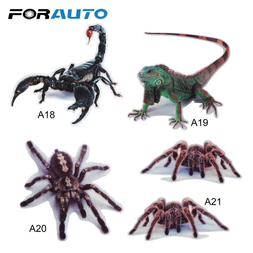3D Автомобильная наклейка бампера наклейки для модификации паук ящерица скорпионы имитация наклейка в форме животных Стайлинг автомобиля внешние аксессуары