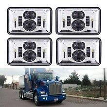 For Freightliner Classic /Peterbilt 357 378 379 Square 4x6 led head light 6000k Rectangular headlamp For GMC Ford Trucks Offroad