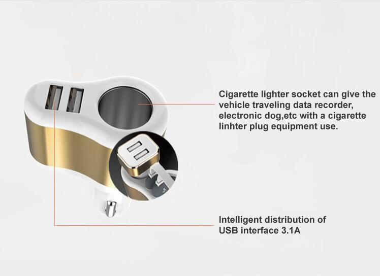 2017 cargador USB para coche para MINI ROADSTER CLUBMAN COUNTRYMAN PACEMAN COUPE Jagaur xf xj accesorios tipo f-pace