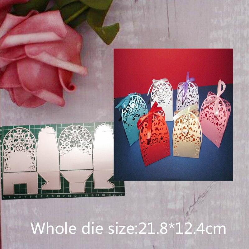 21,8*12,4 см металлические резные штампы Подарочная коробка для DIY скрапбукинга бумаги ремесло стежка креативные штампы и штампы шаблон Новый ...