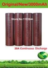 Frete Grátis!!! 10 PÇS/LOTE Autêntico 3.6 V 18650 INR18650 HG2 3000 mAh Alta Drian 20A Bateria para LG