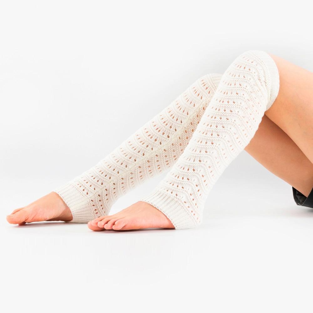 Nuevos calcetines A la moda para mujer, calentadores de piernas cálidos para invierno, una variedad de estilos, calcetines de punto, calcetines de crochet, calcetines de bota con agujeros