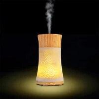Diffuseur darome de Vase creux  diffuseur ultrasonique dhuile essentielle pour la maison  humidificateur dair de 120ml  lumiere de couleur LED  purificateur de bureau