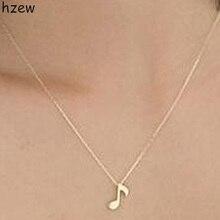 Hzew уникальный дизайн Музыкальная нотка символ ожерелье Нежный Золотой/Серебряный цвет музыкальная нотка кулон ожерелье