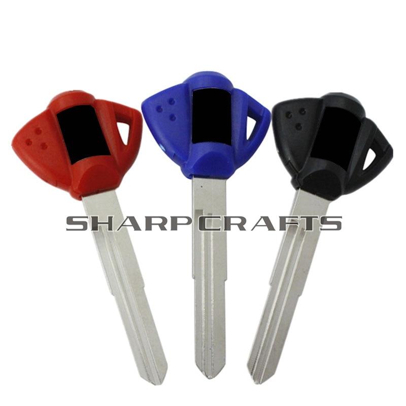 Blue / Black / Red Motorcycle Blank Key Uncut Blade For Suzuki Hayabusa GSX1300R GSR GSXR 600 750 1000 GZ250 Katana 600 DR650SE