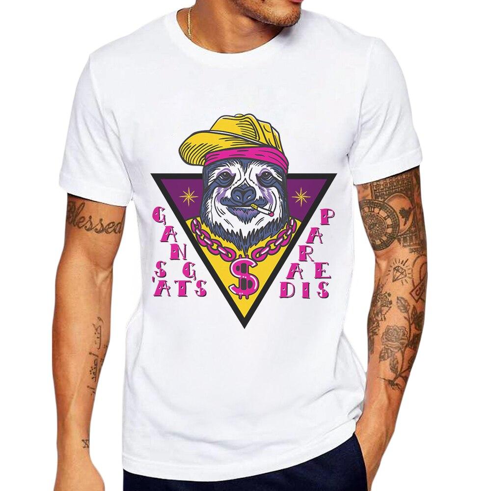Мужские футболки с коротким рукавом, футболка с мультяшным принтом животных, забавная Хлопковая мужская одежда, мужские футболки с принтом,...
