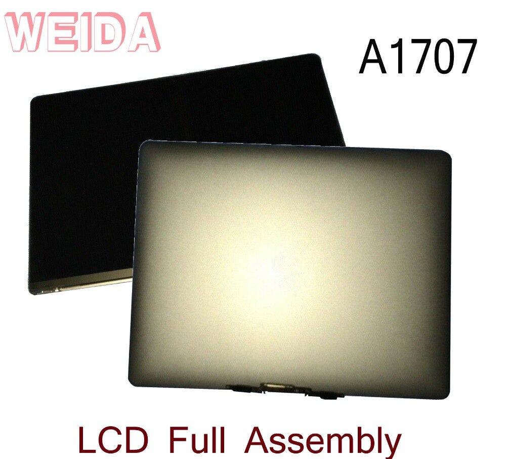 WEIDA-شاشة LCD تعمل باللمس مقاس 95% بوصة لجهاز Macbook Retina A1707 ، مجموعة استبدال كاملة ، فضي/رمادي ، جديد ، 15.4