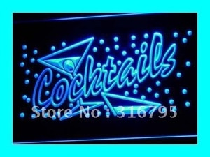 i112 OPEN Cocktails Bar Pub Club NR LED Neon Light Light Signss On/Off Switch 20+ Colors 5 Sizes