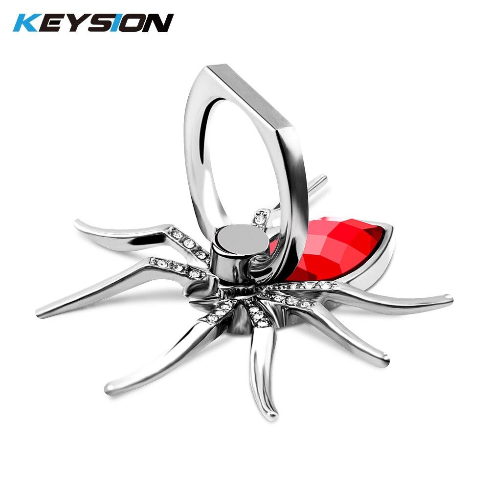 Универсальный Роскошный металлический держатель с кольцом-пауком для мобильного телефона с поворотом на 360 градусов