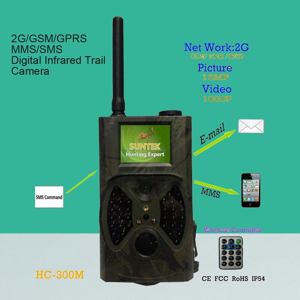 2G Camara de control GSM GPRS MMS red SMS impermeable al aire libre IP54 Cámara sendero 1080P grabador de vídeo PIR sensor de movimiento de defensa de seguridad