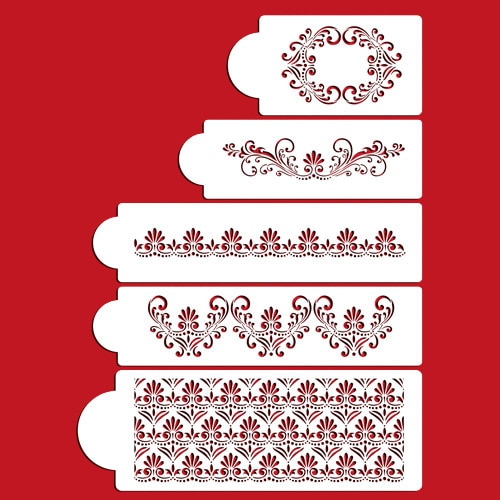 5 unids/lote Fleur de Lis plantilla para tarta fondant moldes para decorar pasteles herramientas mascota pastel plantilla
